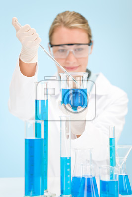 Chemistry experiment -  scientist in laboratory