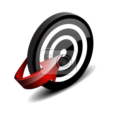 Target with focused arrow