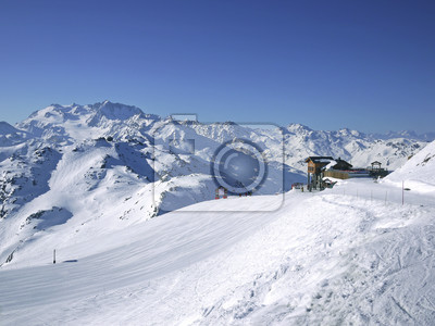 ski slope in 3 Vallees