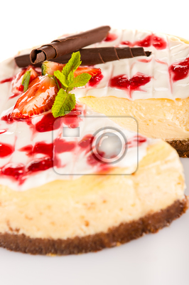 Strawberry cheese cake fresh dessert creamy delicious
