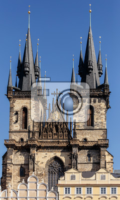 the church of our lady before tyn from old town square stare mesto prague czech republic build in 15th century building completed in 1511y