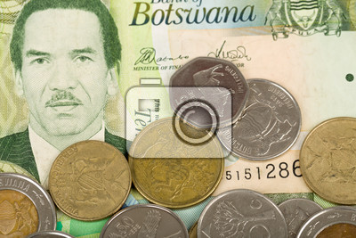 Fotografie South African Countries Banknotes And Coins For