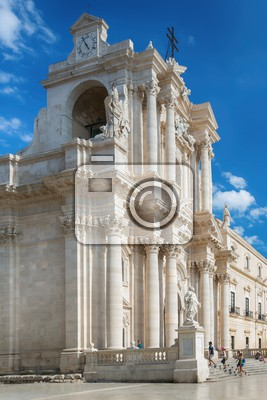 cathedral of syracuse travel photography from syracuse italy on the island of sicily cathedral plaza