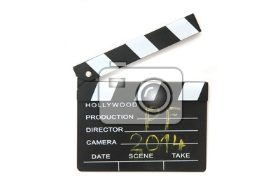 clapboard pf 2014  isolated on the white background