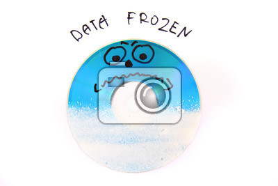 data frozen dvd isolated on the white background