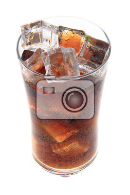 cola with ice cubes texture as nice background