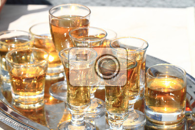 whisky glasses as start of the celebration
